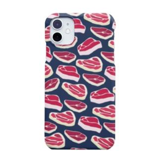 生肉(ネイビー) Smartphone cases