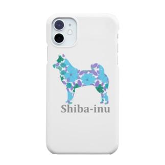 花 柴犬 Smartphone cases