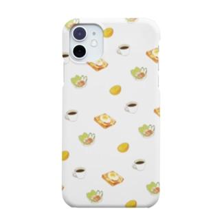 目玉焼きトーストセット Smartphone cases