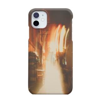 軌跡の結晶の橙の灯り Smartphone cases