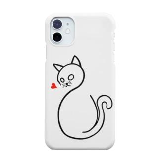Shu-Designの愛に飢えた猫 Smartphone cases