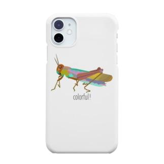 カラフルバッタ Smartphone cases