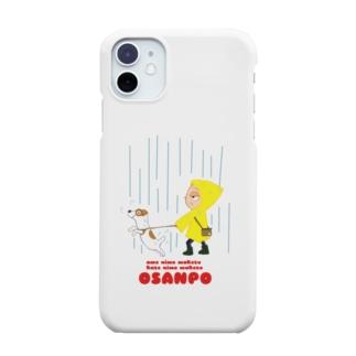 白玉蜜豆金時の雨にも負けず風にも負けずお散歩 Smartphone cases