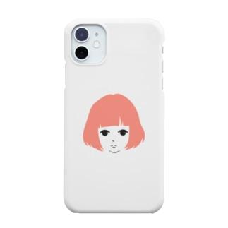 無表情女子 Smartphone cases