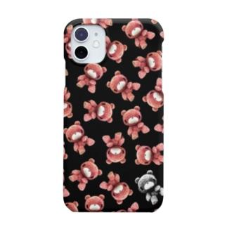 【各20点限定】いたずらぐまのグル〜ミ〜(#25/black) Smartphone cases