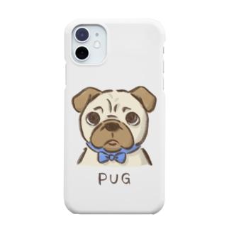困り顔パグ Smartphone cases
