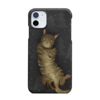 いつでも「猫と」一緒/グレー Smartphone Case