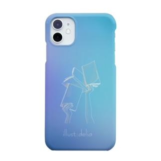 ブックス(ブルー) Smartphone cases