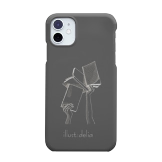 ブックス(ダークグレー) Smartphone cases