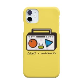 AiueO×ミューラビコラボ(ラジカセ・イエロー) Smartphone cases