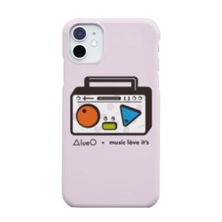 AiueO×ミューラビコラボ(ラジカセ・ピンク) Smartphone cases