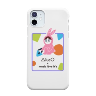 ラビッツマーケット@音楽メディアの公式グッズのAiueO×ミューラビコラボ(ラビA) Smartphone cases