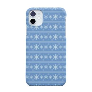 いて座のスノーフレーク(星座パターンシリーズ) Smartphone cases