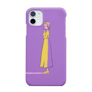 マカロンと女の子 Smartphone cases