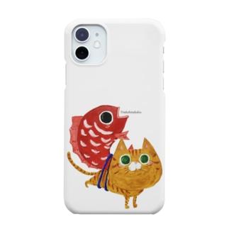 猫と鯛 めで鯛 福猫 茶トラ猫 Smartphone cases
