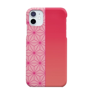 麻の葉 iPhone11ケース Smartphone cases