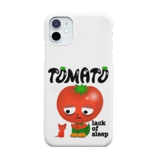 寝不足トマト Smartphone cases