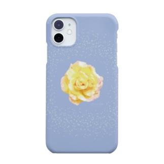 アランさんの黄色いバラ Smartphone cases