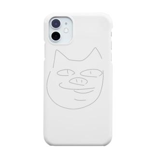 モノクロシンプルなプーブーちゃん Smartphone cases