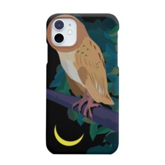 フクロウはアタマがよく動く/iPhone 11推奨 Smartphone cases