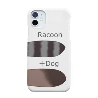 たぬきさん尻尾スマホケース Smartphone cases