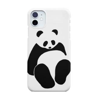 パンダ(すわる) Smartphone cases