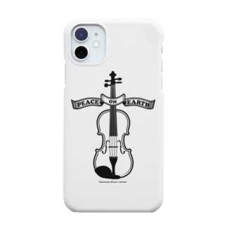 バイオリン/Peace on Earth黒 Smartphone cases
