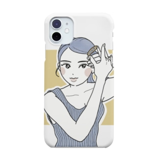 朝の身支度 Smartphone cases