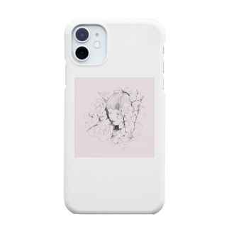 眠り〔pink〕 Smartphone cases