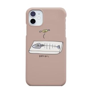 こんがり焼き魚(ぺろり)モカ Smartphone cases
