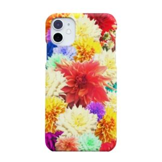 ボタニカル柄-花柄-モード好きに-カラフル Smartphone cases