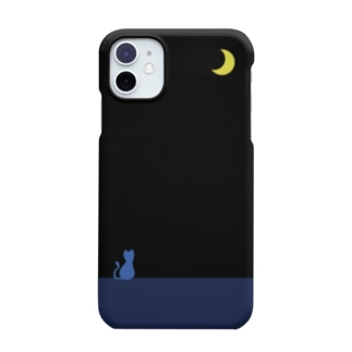 moon & blue cat Smartphone cases