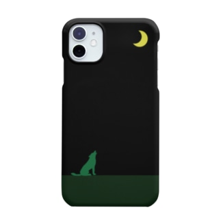moon & green wolf Smartphone cases