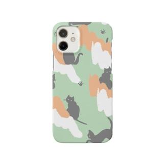 夕雲と猫 Smartphone cases