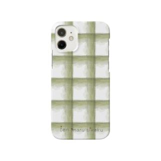 チェックみどりあらめ Smartphone cases