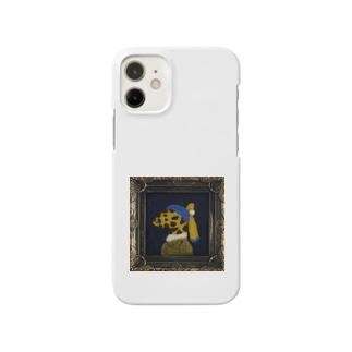 真珠の耳飾りのキリン Smartphone cases