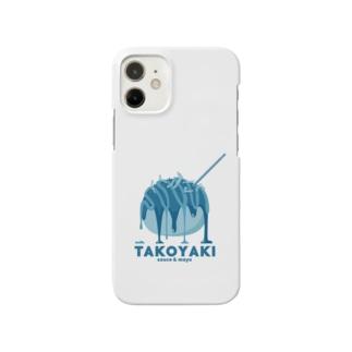 たこ焼き 青 Smartphone cases