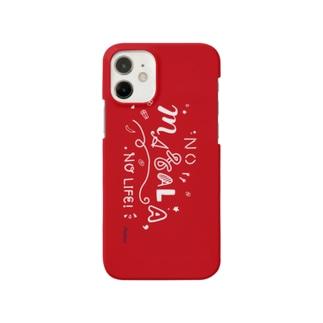 NO MASALA, NO LIFE. スマホケース 赤 Smartphone cases