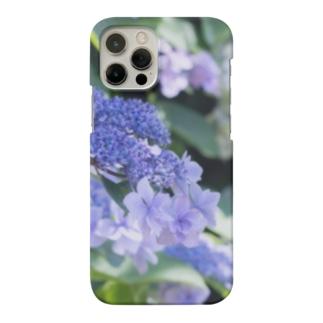 花フォト(アジサイ/紫) Smartphone cases