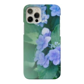 花フォト(アジサイ/緑) Smartphone cases