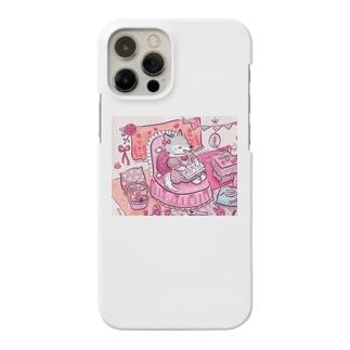 ピンク大好きオオカミちゃん Smartphone cases