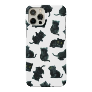 黒猫柄 iPhoneケース Smartphone cases