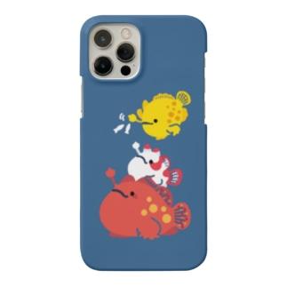 もちもちカエルアンコウ Smartphone cases