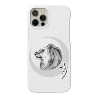 月獅子 tattooバージョン Smartphone cases