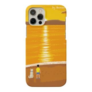 湘南デザイン室:Negishi Shigenoriの湘南ランドスケープ07:夕焼け、光の道 Smartphone cases