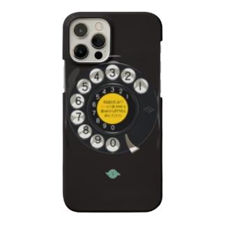 黒電話ダイヤル Smartphone cases