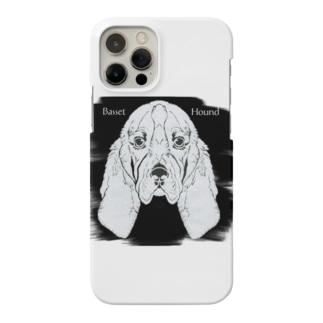 バセットハウンド・切り絵 Smartphone cases