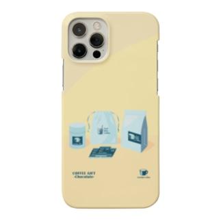 COFFEE GIFT -Chocolate- YELLOW Ver. Smartphone cases