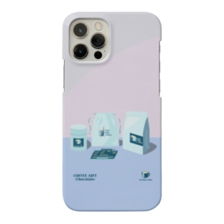 COFFEE GIFT -Chocolate- PURPLE Ver. Smartphone cases