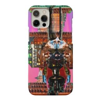 ユタカアート「8K画質の未来映像」の夕方、夕焼け、夕日、虹、夜景、街、商店街、川、女性、自動車、ワーゲン、ビートル Smartphone Case